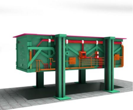 Horizontal garbage compressor